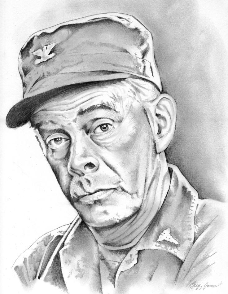 Col. Sherman Potter by gregchapin on deviantART ~ actor Harry Morgan ~ artist Greg Joens