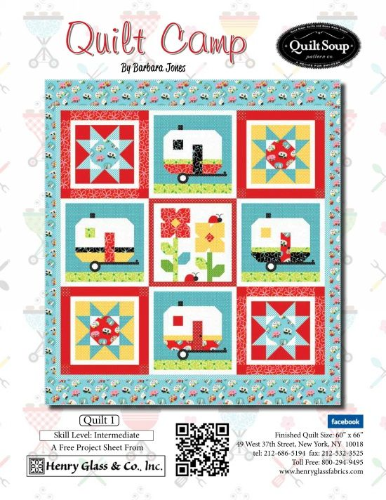 Quilt Camp- Quilt 1 by Barbara Jones of QuiltSoup