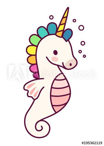 Cute unicorn with purple mane simple cartoon vector illustration. Simple flat line doodle icon contemporary style design element isolated on white. Magical creatures, fantasy, fairy, dreams theme. – Buy this stock vector and explore similar vectors at Adobe Stock