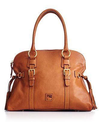 Dooney & Bourke Handbag, Florentine Domed Buckle Satchel - All Handbags - Handbags & Accessories - Macy's