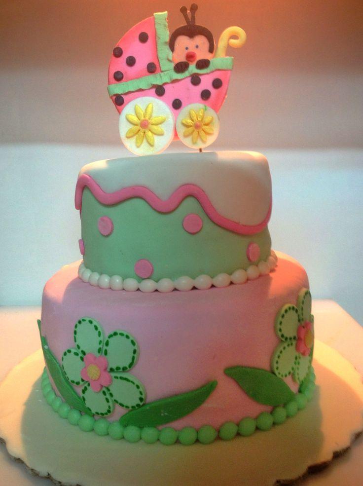 Pastel para baby shower lady bug