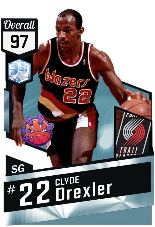 '91 Clyde Drexler (97) MyTEAM Diamond Card