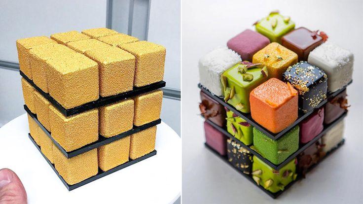 Rubiks kub-tårta gör succé på Instagram
