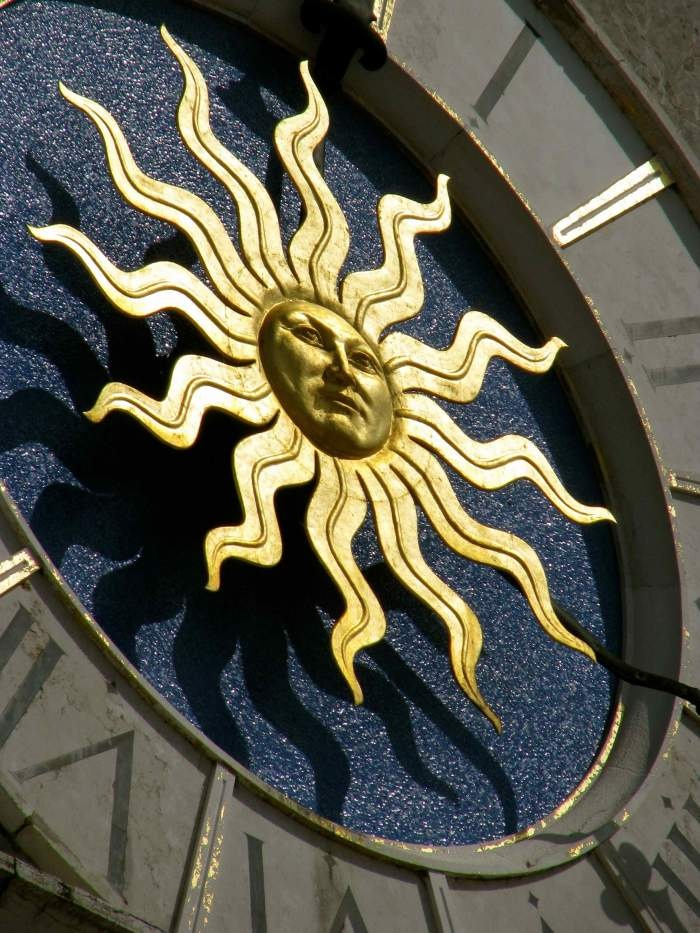 The Golden Sunshine Clock Face - Udine, Italy