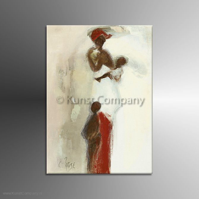 Schilderij Silhouettes Africaines II