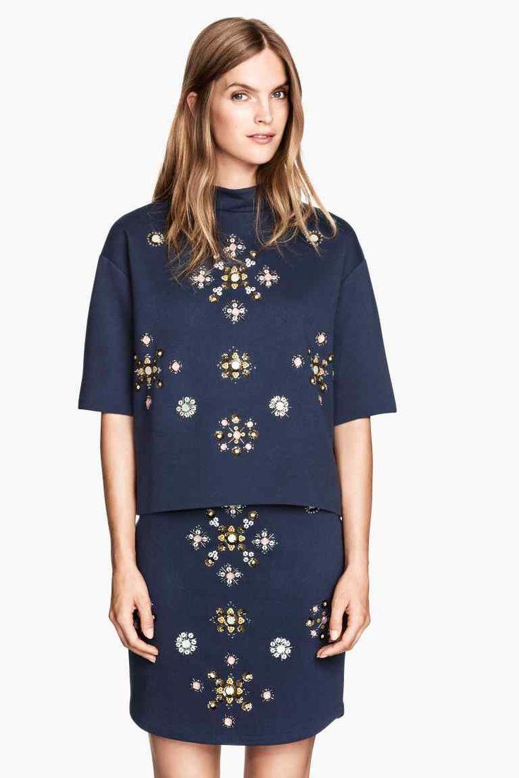 Falda con bordado de cuentas | H&M