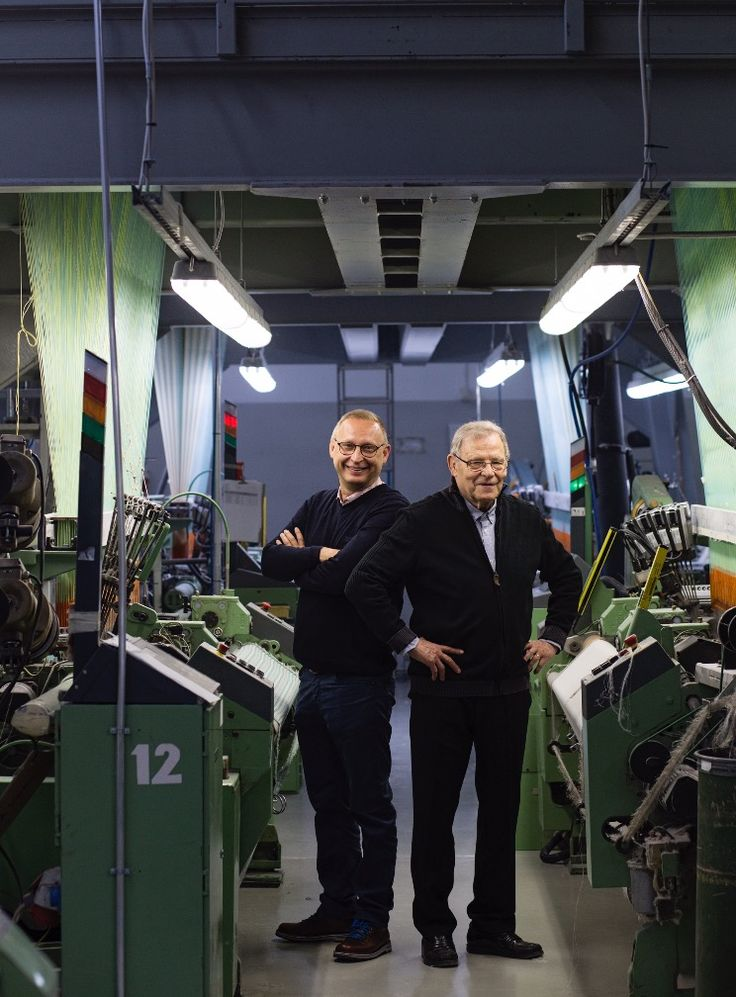 The 100 years of craftsmanship! Esko and Juha Hjelt, fourth and third generation of weavers from Lapuan Kankurit