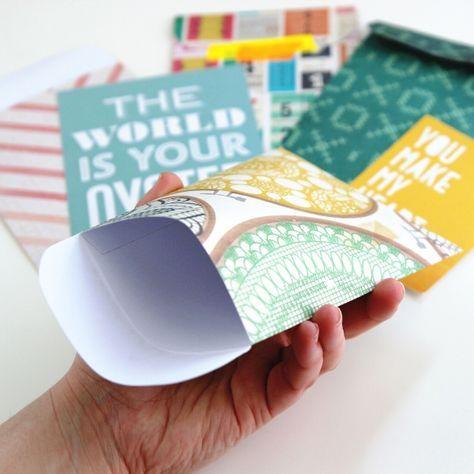 How to make your own Diy Scrapbook Paper Pocket Envelopes. #paper #craft #DIY