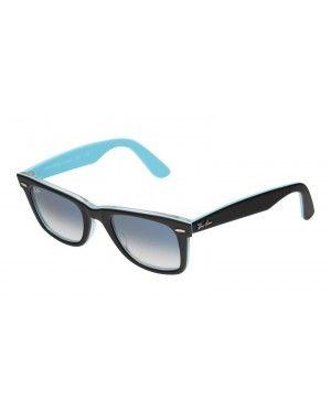 Ray-Ban Wayfarer RB 2140 1001/3F noir/bleu rayban Wayfarer lunettes pas cher