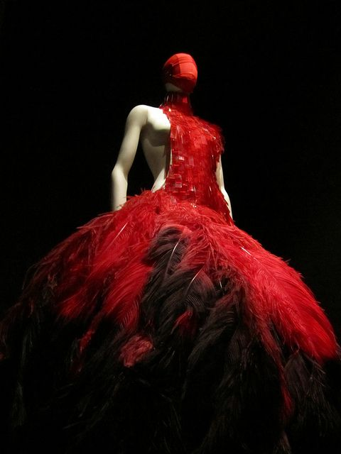 Pictures my sister took at Alexander McQueen: Savage Beauty at the Met in NYC.  She got yelled at twice but she wound up with some nice shots!