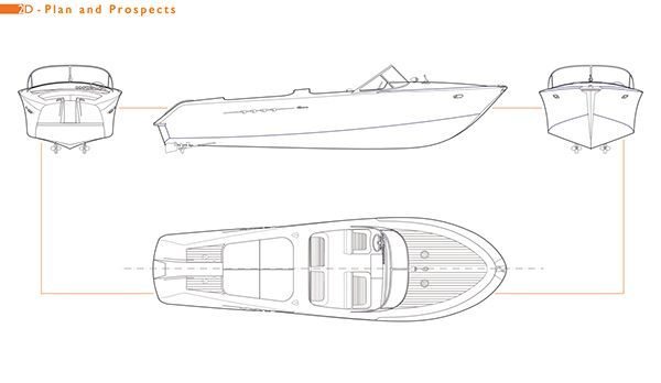 speedboat model built by Italian yachtbuilder Riva