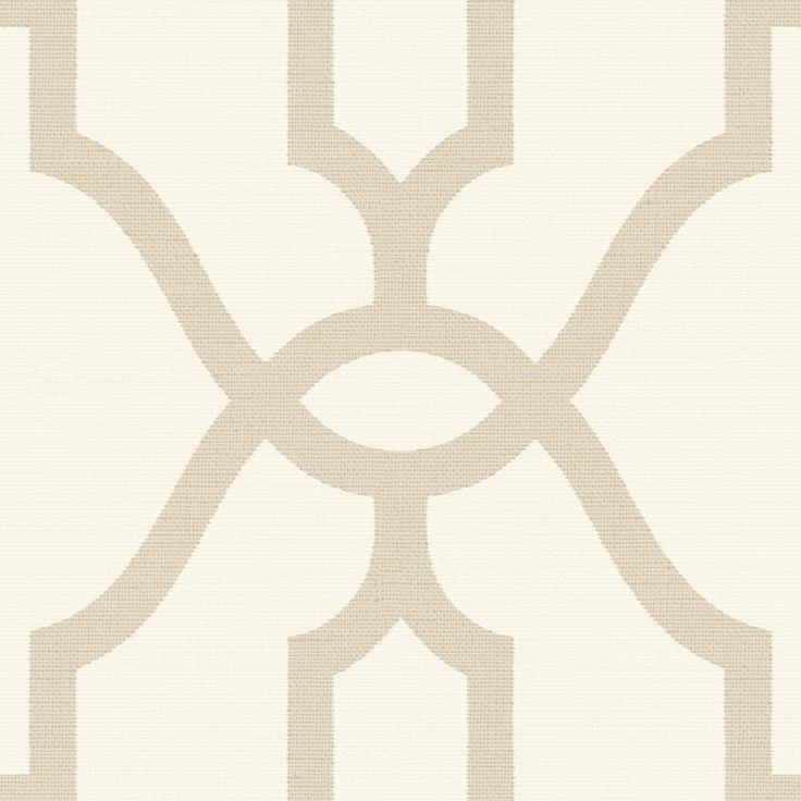 Magnolia Home Woven Trellis Wallpaper – Embossed Letter (Beige)
