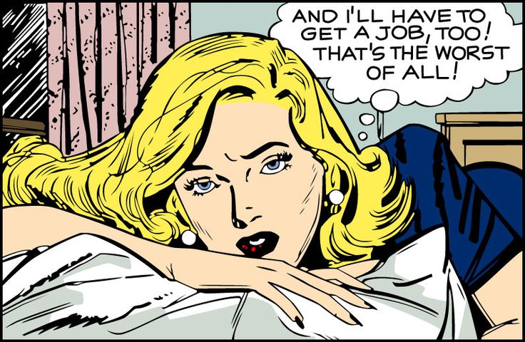 "Comic girls say .. "" And I''ll have to get a job too  ! that's the worst of all!""    #comic #popart #vintage"