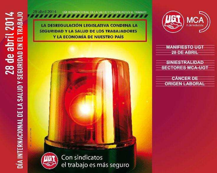 MCA-UGT hace público su informe sobre la siniestralidad laboral en sus ámbitos, basado en datos de la EPA y de la Estadística de Accidentes de Trabajo y Enfermedades Profesionales, y reclama no bajar la guardia frente a cierto espejismo estadístico. #28Abril http://mcaugt.org/saludyseguridad/