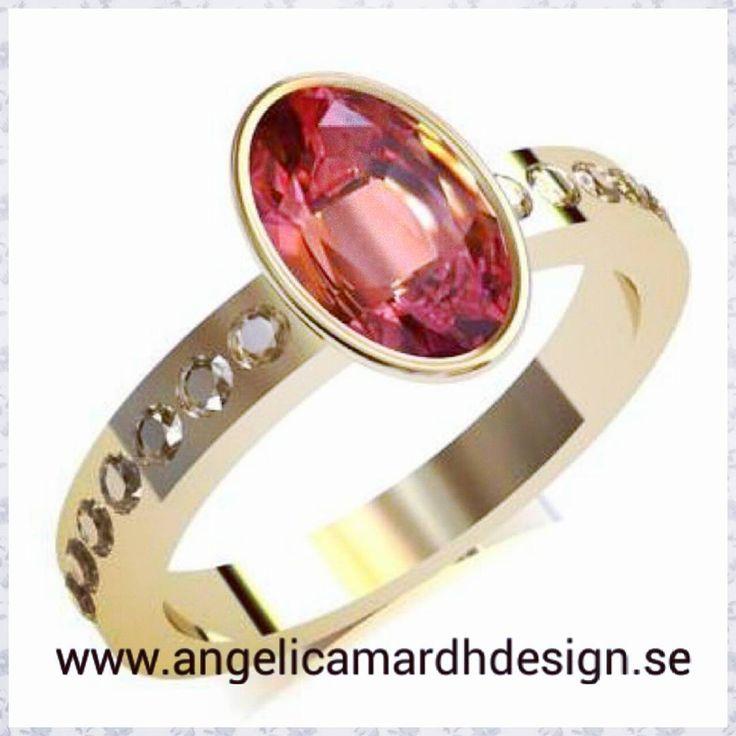 Alla drömmer om något. Kanske drömmer du om denna ring i julklapp? Dreaming of this ring?  #angelicamardhdesign #ring #goldring #drömring #present #gift #anniversary #christmasgifts #julklappar #guldsmed #goldsmith