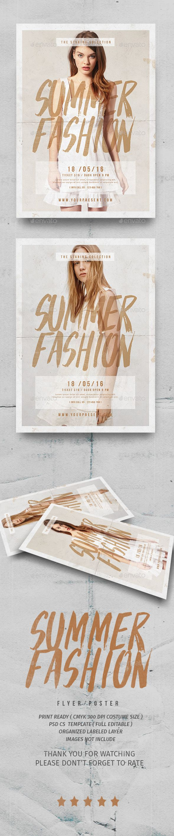 Summer Fashion Flyer Template PSD. Download here: http://graphicriver.net/item/summer-fashion-flyer/15796515?ref=ksioks