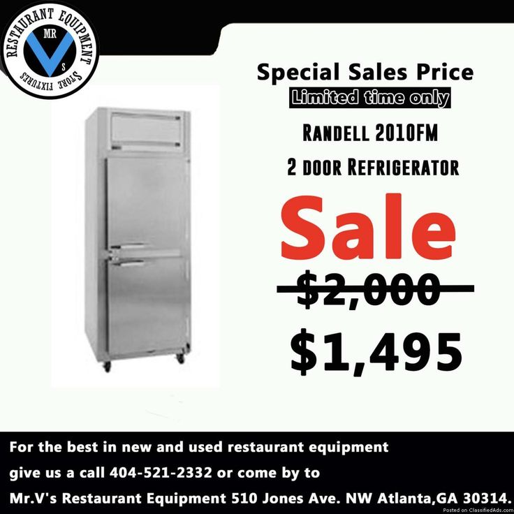 For the best in new and used restaurant equipment give us a call or come by to Mr.V's Restaurant Equipment. Big Sale onRandell 2door Freezerwhile in stock. So don't miss out on this great deal. For more info contact show contact 404 521 2332Deep Fryers, 6 eye range, Commercial Coolers, Commercial Freezers, Sandwich Preps, Convection Oven, Restaurant Equipment, Used Restaurant Equipment, New Restaurant Equipment, Gas Grill, Griddle, Mr.V's Restaurant Equipment, Atlanta, GA