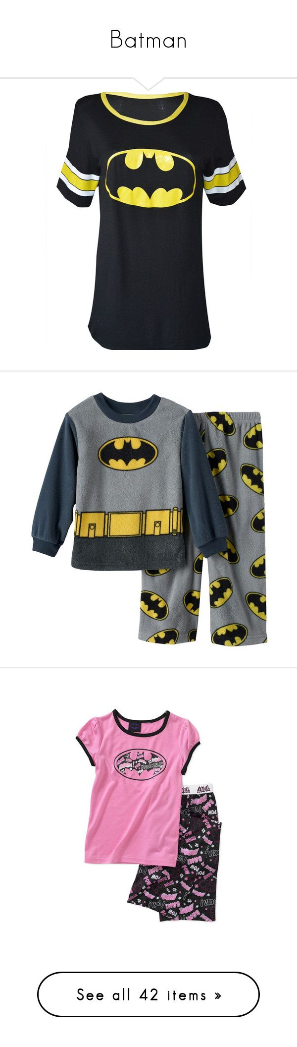 """""""Batman"""" by wonderland-junkie ❤ liked on Polyvore featuring tops, t-shirts, shirts, batman, oversized shirts, over sized t shirt, superman t shirt, oversized t shirt, tee-shirt and baby girl"""