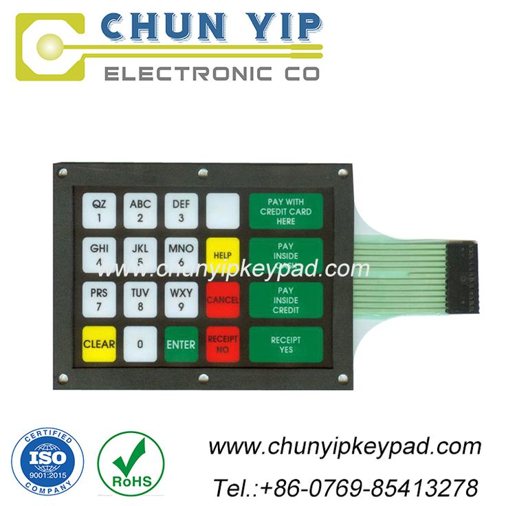 Custom medical equipment tactile membrane switch--CHUNYIP--00496