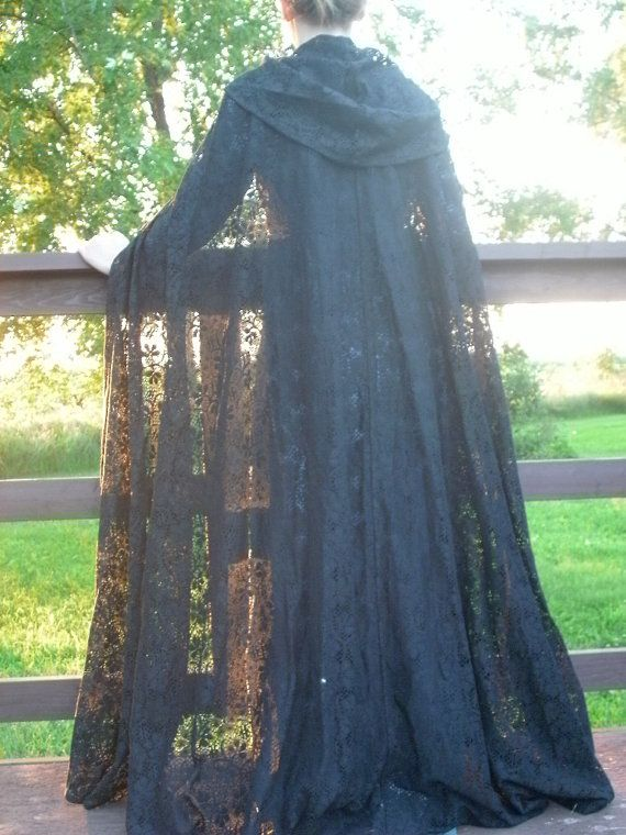 Full Gorgeous Lace Cloak MADE TO ORDER Custom by TheModestMaiden -- Completely impractical. Even if I were going to an event, I'd rather not freeze, thank you. ...But it's just so pretteee! :D