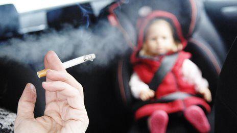Ministers 'will ban car smoking'