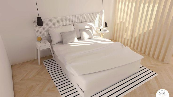 #Bedroom #makeover - 3D Visualization - by Oli Interior Design Studio #modern #monochromatic #blackandwhite #scandinavian #interiordesigner #edesign #onlineservice