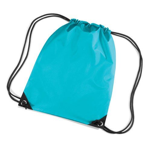 BagBasee Unisex Gym Sack PE Shoe Rucksack Swim Bag Surf Blue