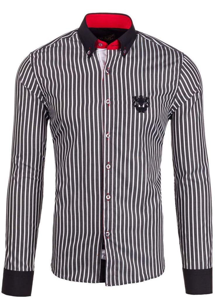 Pánská košile BOLF 5738 černá ČERNÁ | Pánská móda \ Pánské košile \ Košile dlouhý rukáv Pánská móda \ Pánské košile \ společenské Pánská móda \ Pánské košile \ kancelářské Pánská móda \ Pánské košile \ proužkované Premium Przecena 15% | Bolf - Internetový Obchod s Oblečením | Oděv | Oblečení | Kabáty | Bundy