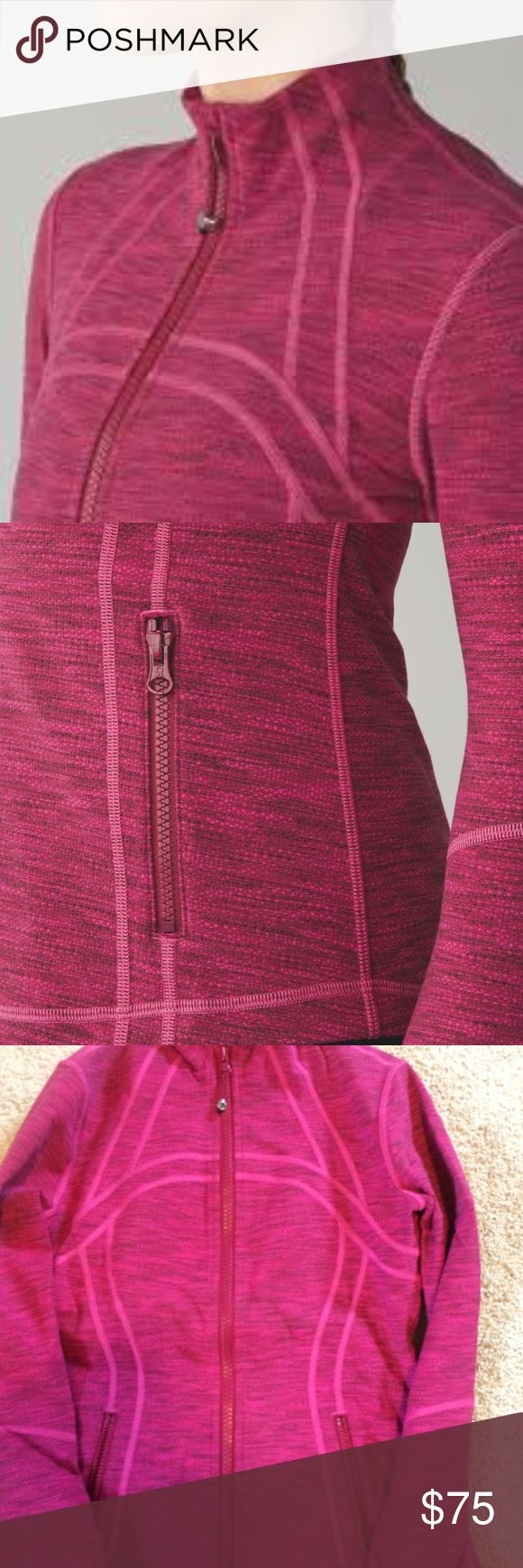 NWO tags Red/Pink Define Jacket ***Rare** GREAT value - price firm lululemon athletica Jackets & Coats
