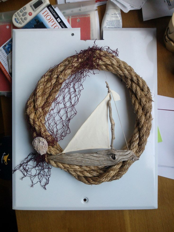 #wreath #sea #summer #rope #shells #boat #travel #handmade #craft