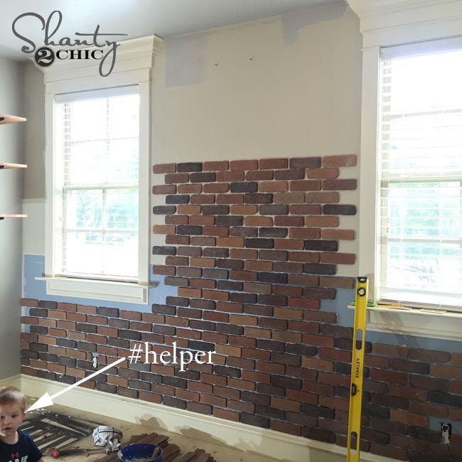 25 best thin brick ideas on pinterest - Fake brick wall covering interior ...