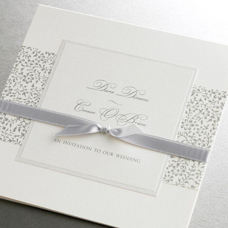 Bespoke wedding invitations cream u0026 silver