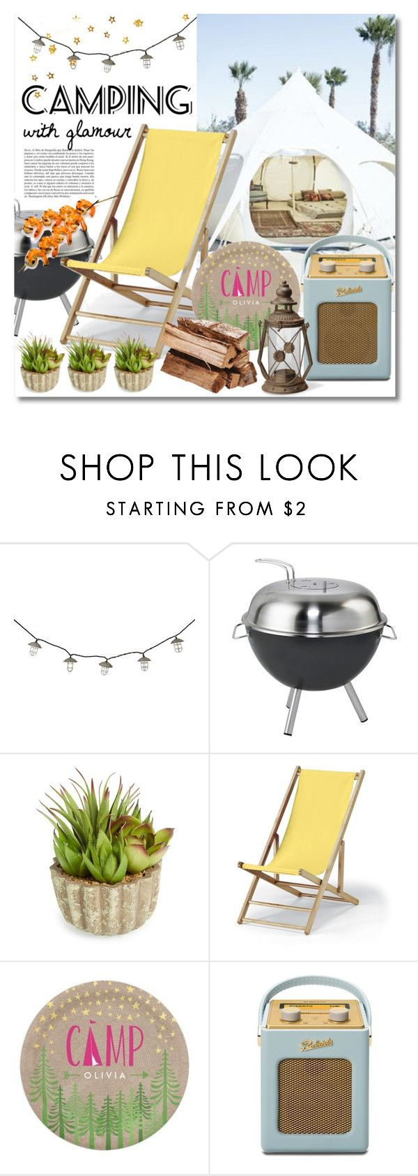 """Let's Go Glamping!"" by miee0105 ❤ liked on Polyvore featuring interior, interiors, interior design, home, home decor, interior decorating, Dancook, Allstate Floral, Telescope Casual and Roberts"