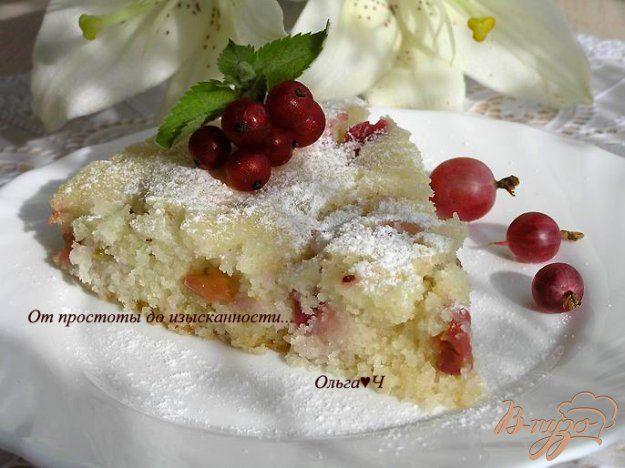 Пирог с крыжовником (в мультиварке) - пошаговый рецепт с фото
