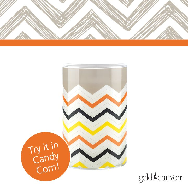 ~Chevron Lumie~ The chevron print represents the protection offered by our homes and the people who live in them. Perfect for Halloween, you can customize this Lumie™ and select your scent to make it your own!