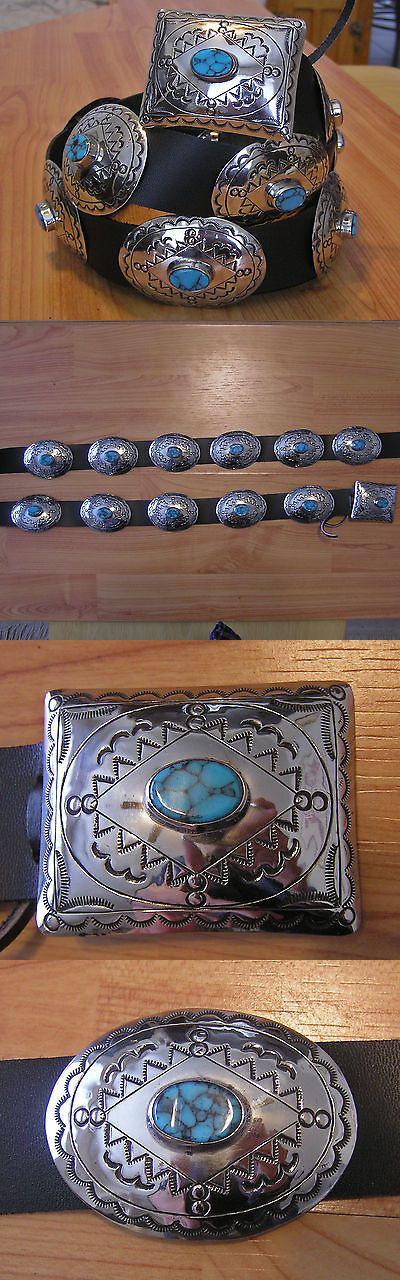 Other Native American Jewelry 11315: Gorgeous Navajo Indian Handmade Turquoise And Nickel Silver Concho Belt. Kayonnie BUY IT NOW ONLY: $189.99
