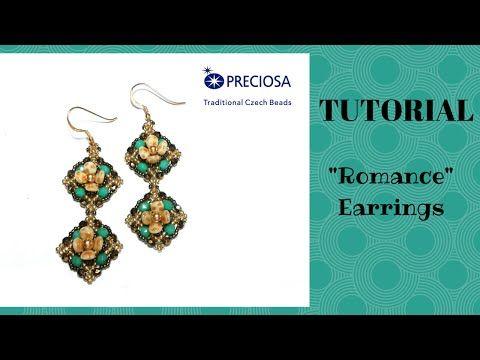 "Tutorial perline: orecchini ""Romance"" con le pip   beading tutorial: ""Romance"" earrings - YouTube"