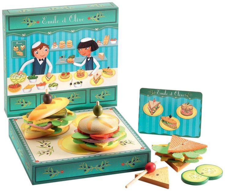 Fincsi szendvics bár- Emile & Olive (Djeco) | Pandatanoda.hu Játék webáruház