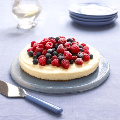 Mary Berry's lemon cheesecake recipe from 'Cook Up A Feast'. For the full recipe and more, click the picture or visit RedOnline.co.uk