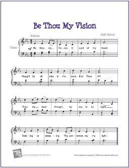 Be Thou My Vision Hymn Christmas Piano Music Printable Sheet