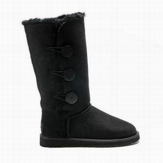 UGG Bailey Button Triplet Boots 1873 Black $92.99