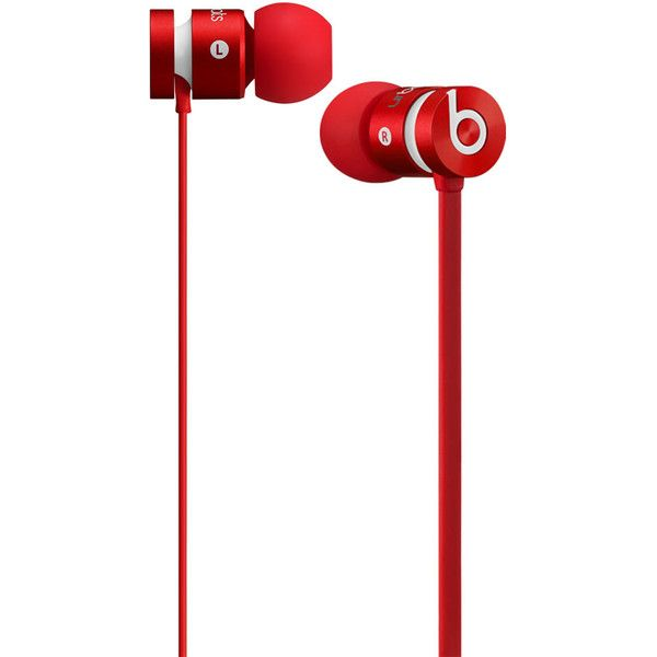 Beats by Dre urBeats Earphones (130 AUD) ❤ liked on Polyvore featuring men's fashion, men's accessories, men's tech accessories, electronics, headphones, accessories, tech, music and red
