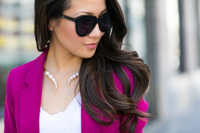 Color Splash :: Magenta blazer