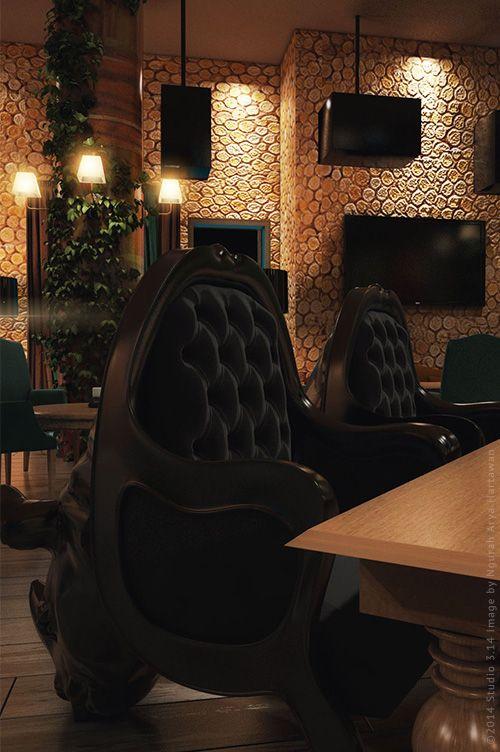 Кресла для визуализации караоке-бара