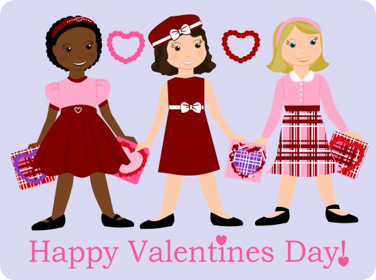 """Valentine's Day Paper Doll {free printable} ~     Look at this design for paper dolls just for Valentine's Day! {LOVE!}  This complete VALENTINE'S DAY Paper Doll introduces """"Little Lisha"""" and accessories designed by  Tricia-Rennea along with 2 other little girl dolls and accessories."""