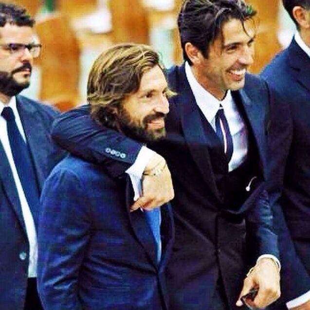 Andrea Pirlo and Gianluigi Buffon.