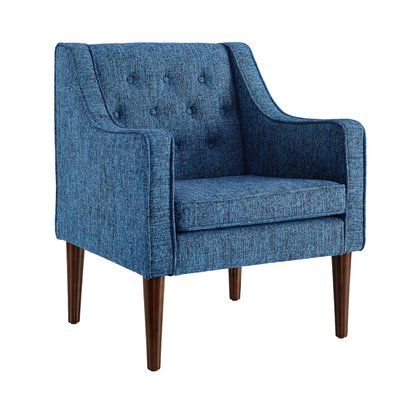 Charlton Home Zaftig Tufted Back Arm Chair Upholstery: