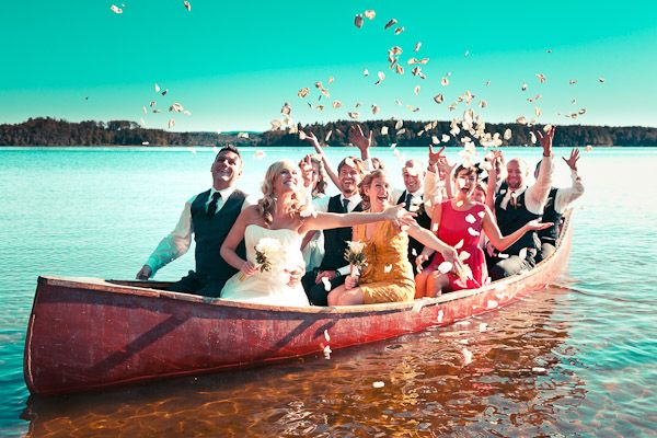 I love the creativity that comes out of weddings. A Charming Camp Wedding In Golden Lake, Ontario on http://www.weddingbells.ca/blogs/real-weddings/2012/07/20/a-charming-camp-wedding-in-golden-lake-ontario/