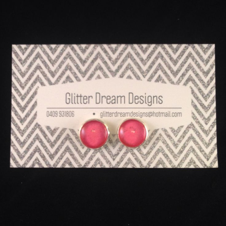Order Code A17 Pink Cabochon Earrings