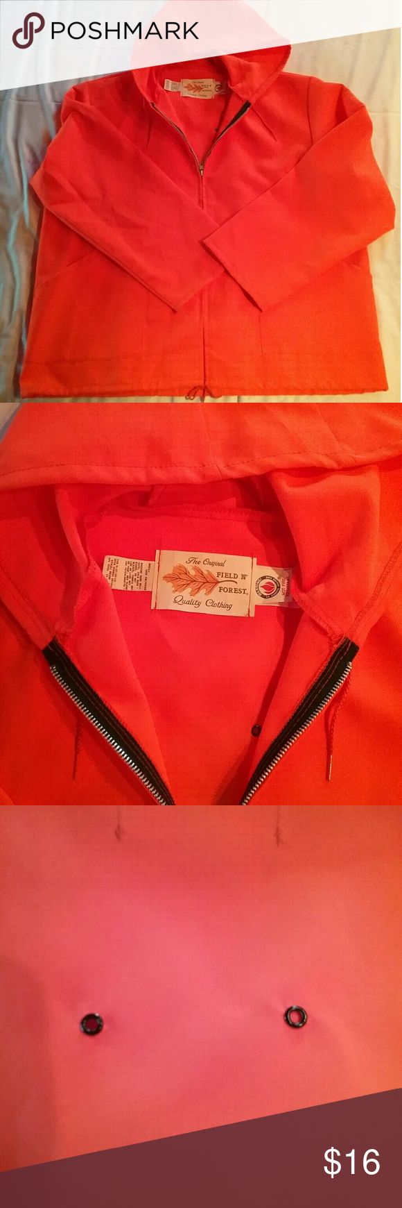 Field and Forest Hunting Jacket Like new Field and Forest Hunting Jacket, lightweight, blaze orange with breathing holes in back Field and Forest Jackets & Coats